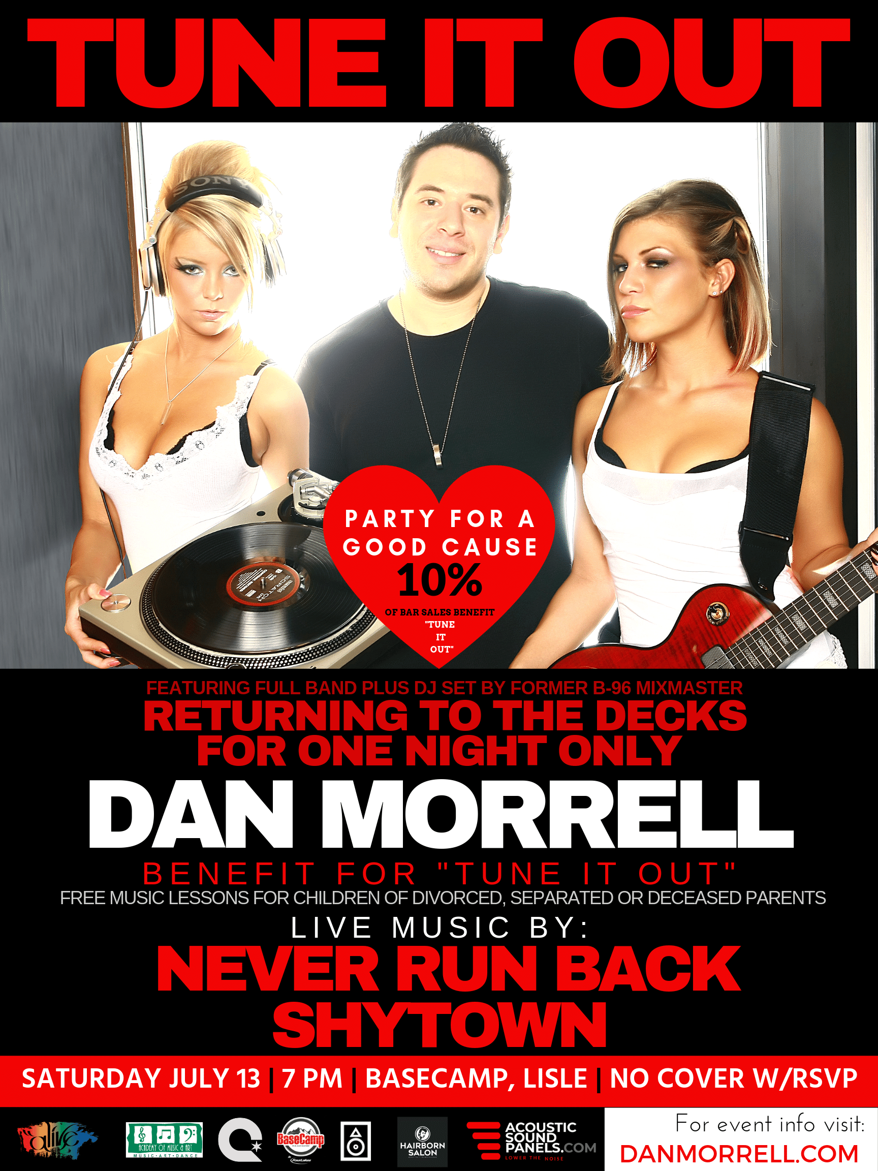 Tune It Out Feat Dan Morrell at Basecamp Pub In Lisle July 13, 2019